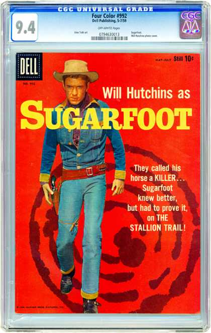 CGC Graded Comics - Four Color #992 (CGC) - Will Hutchins - Sugarfoot - Cowboy - Stallion Trail - Western