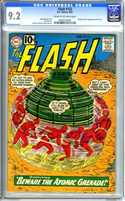 CGC Graded Comics - Flash #122 (CGC) - Flash - Superman National Comics - Comics Code - Beware The Atomic Grenade - Forever