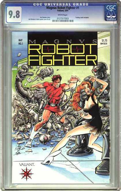 CGC Graded Comics - Magnus Robot Fighter #1 (CGC) - Robot Fighter - Man In Red - Woman In Black - Rogue Robots - Robots War City