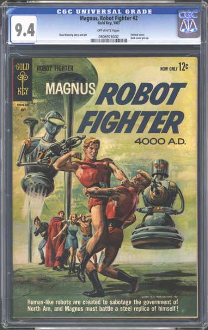CGC Graded Comics - Magnus, Robot Fighter #2 (CGC) - Gold Key - Science Fiction - Robots - 60s - Wrestling