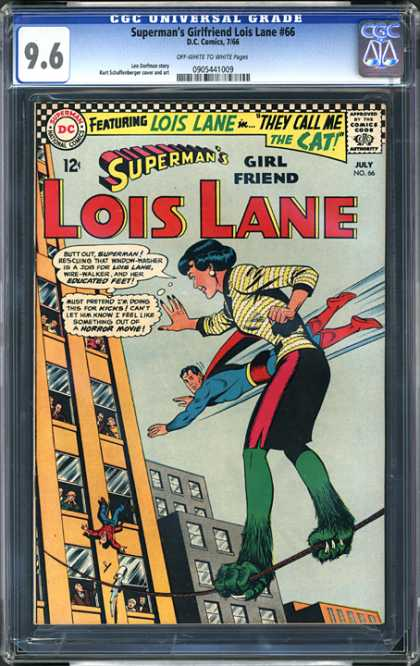 CGC Graded Comics - Superman's Girlfriend Lois Lane #66 (CGC) - Educated Feet - Horror Movie - Rescuing - Window-washer - Flying