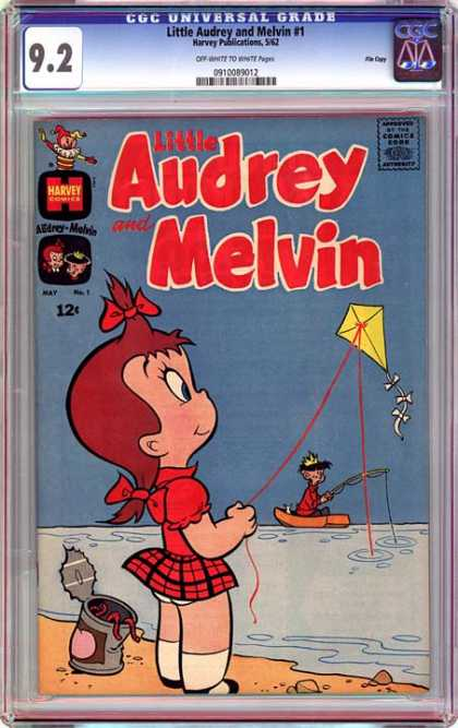 CGC Graded Comics - Little Audrey and Melvin #1 (CGC) - Kite - Fishing - Boat - Worms - Water
