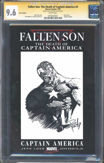 CGC Graded Comics - Fallen Son: The Death of Captain America #3 (CGC) - Superhero Death - Captain America - Super Powers - Marvel Comics - Dead