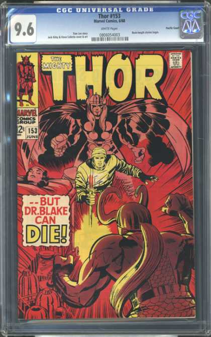 CGC Graded Comics - Thor #153 (CGC) - Fire - Myth - Sword - Loving - Fear