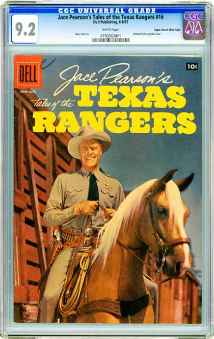 CGC Graded Comics - Jace Pearson's Tales of the Texas Rangers #16 (CGC) - Face Pearsons - Horse - Ready For Riding - Smiling - Hat