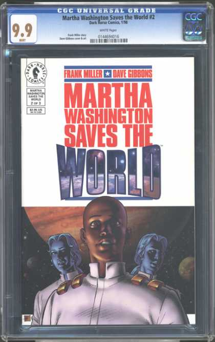 CGC Graded Comics - Martha Washington Saves the World #2 (CGC) - Extra-terrestrial - Frank Miller - Dave Gibbons - Inter-galactic - Alien Quest