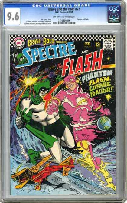 CGC Graded Comics - Brave and the Bold #72 (CGC) - Dc - Dc Comics - Flash - Spectre - Phantom