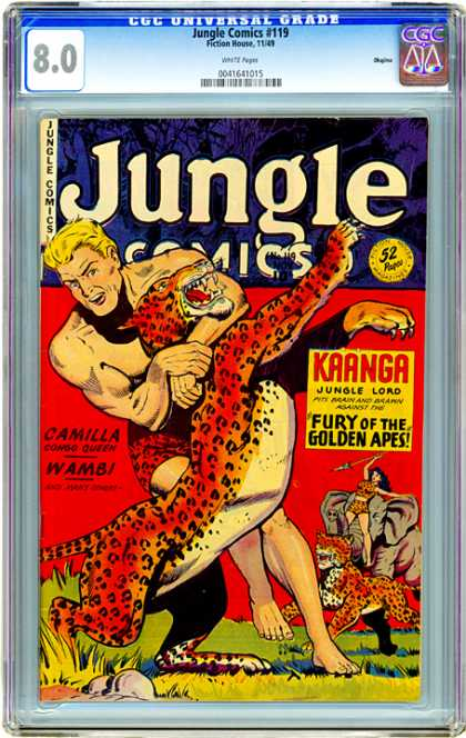 CGC Graded Comics - Jungle Comics #119 (CGC) - Tiger - Apes - Jungle - Wamb - Elephant