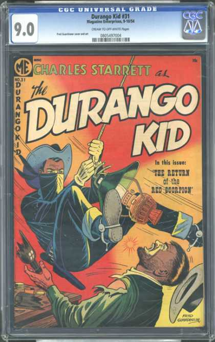CGC Graded Comics - Durango Kid #31 (CGC) - Cowboy - Old - Western - Bottle - Thief