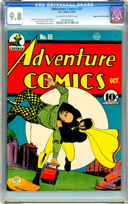 CGC Graded Comics - Adventure Comics #55 (CGC) - Cgc Hologram - Full Moon - Choke Hold - Log House - Tnt