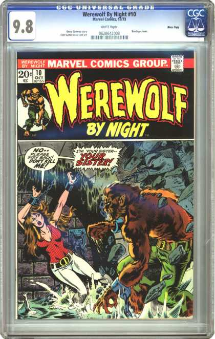 CGC Graded Comics - Werewolf By Night #10 (CGC)