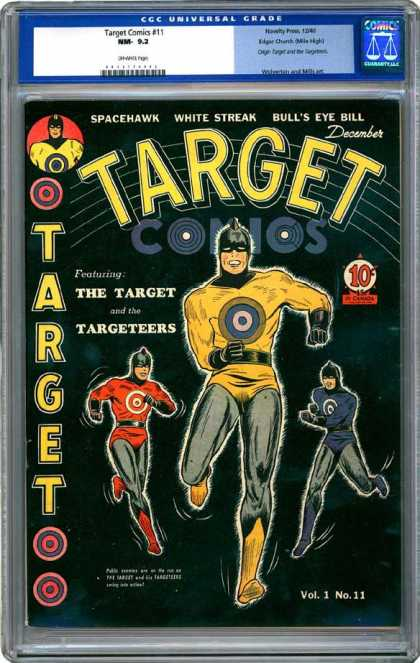 CGC Graded Comics - Target Comics #11 (CGC) - Target - Targeteers - Spacehawk - White Streak - Bulls Eye Bill