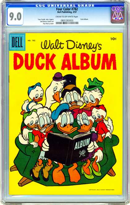 CGC Graded Comics - Four Color #782 (CGC) - Ducks - Scrooge Mcduck - Disney - Album - Family