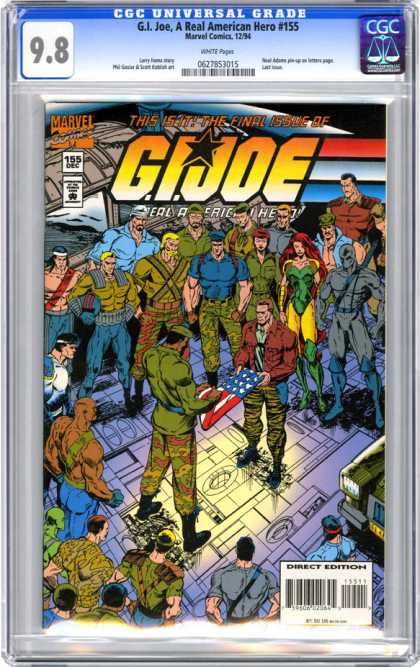 CGC Graded Comics - G.I. Joe, A Real American Hero #155 (CGC)