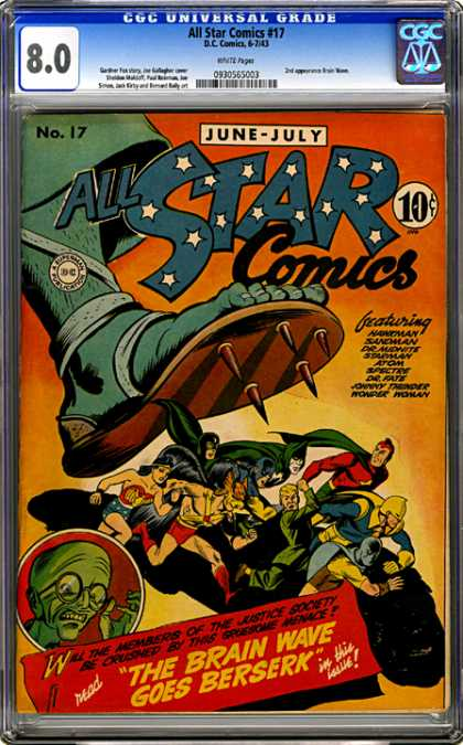 CGC Graded Comics - All Star Comics #17 (CGC)