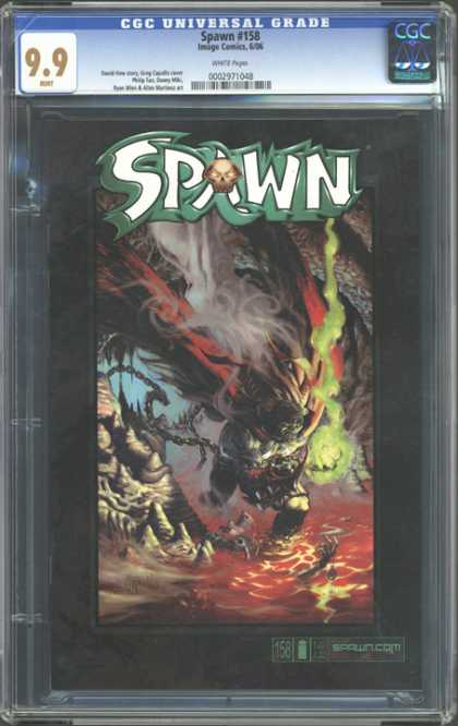 CGC Graded Comics - Spawn #158 (CGC) - Spawn 158 - Chain - Green Gas - Lava - Cave