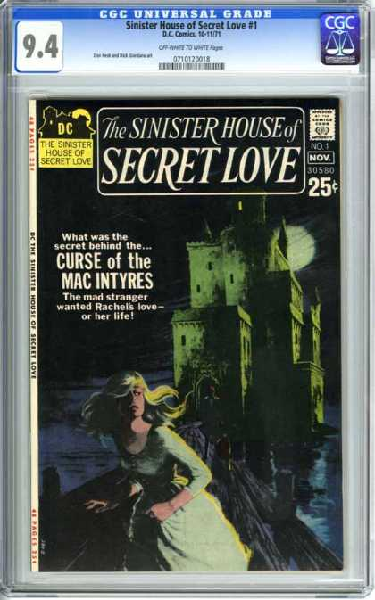 CGC Graded Comics - Sinister House of Secret Love #1 (CGC)