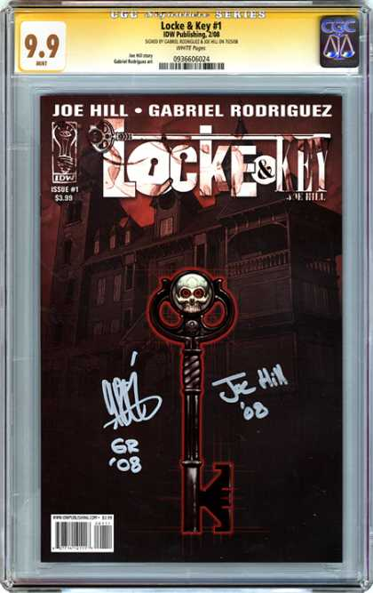 CGC Graded Comics - Locke & Key #1 (CGC) - Skeleton Key - Skull - Mansion - Haunted House - Black And Red