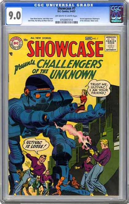 CGC Graded Comics - Showcase #7 (CGC) - Robot - Woman - Firing - Ultivac - Running