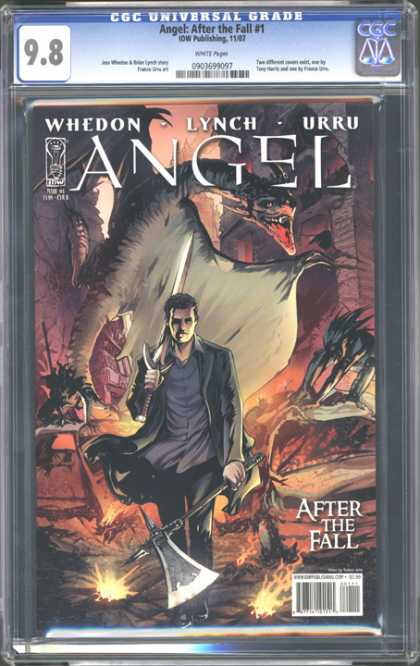 CGC Graded Comics - Angel: After the Fall #1 (CGC) - Axe - Dragon - Fire - Monster - Sword