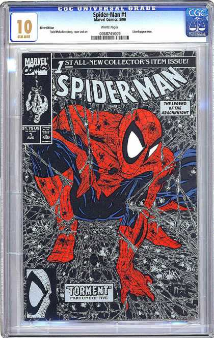 CGC Graded Comics - Spider-Man #1 (CGC) - Spiderman - Hero - Power - Web - Action