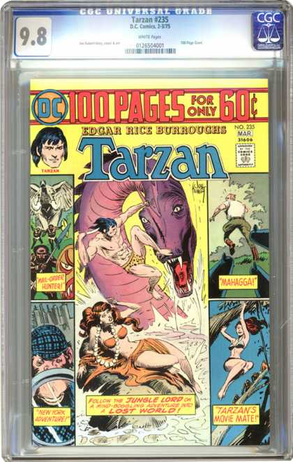 CGC Graded Comics - Tarzan #235 (CGC) - Edgar Rice Burroughs - Tarzan - Bird - Sea Monster - African Tribesman