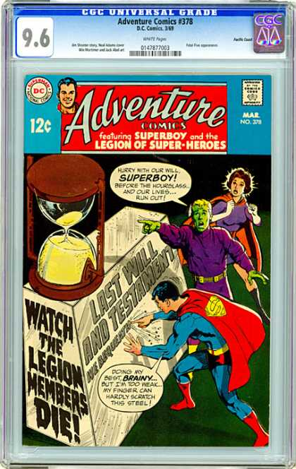CGC Graded Comics - Adventure Comics #378 (CGC) - 12 Cents - Superboy - Superhero - Speech Bubble - March
