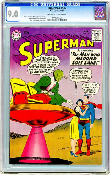 CGC Graded Comics - Superman #136 (CGC) - Superman - Lois Lane - Creature - 23rd Century - Destiny