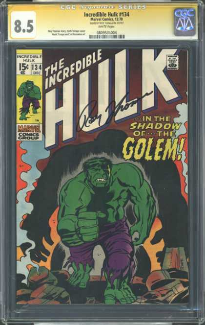 CGC Graded Comics - Incredible Hulk #134 (CGC)