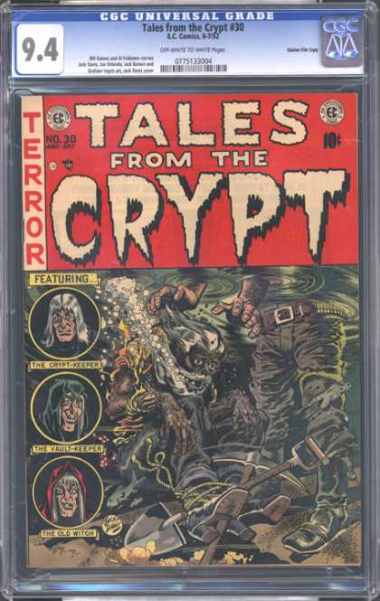 CGC Graded Comics - Tales from the Crypt #30 (CGC) - Terror - Tales From The Crypt - 10 Cents - Crypt Keeper - Old Witch