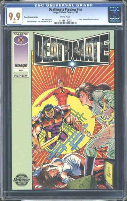 CGC Graded Comics - Deathmate Preview #nn (CGC) - Valiant - Image - Deathmate - Weapon - Armor