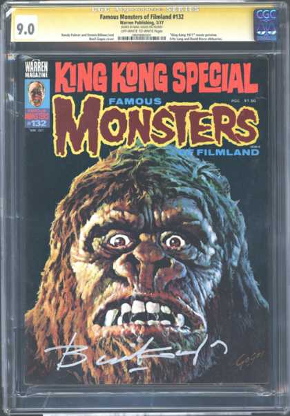 CGC Graded Comics - Famous Monsters of Filmland #132 (CGC) - King Kong - 132 - Gorilla - Black - Brown