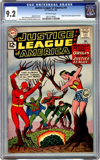 CGC Graded Comics - Justice League of America #9 (CGC) - Trees - Meteor - Flash - Wonder Woman - Aquaman
