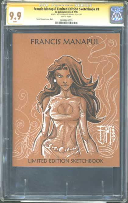 CGC Graded Comics - Francis Manapul Limited Edition Sketchbook #1 (CGC) - Francis Manapul - Woman - Limited Edition Sketchbook - Costume - Fim 2007