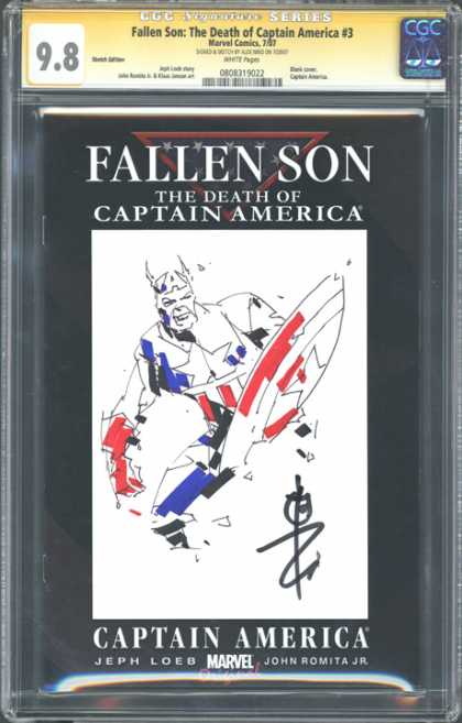 CGC Graded Comics - Fallen Son: The Death of Captain America #3 (CGC) - Fallen Son - Captain America - Shield - Star - Man