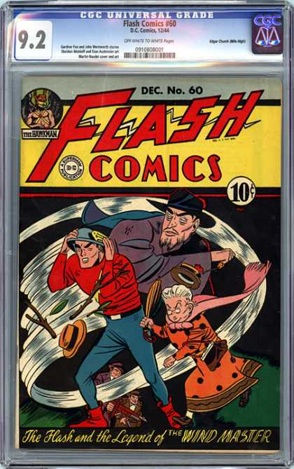CGC Graded Comics - Flash Comics #60 (CGC) - Flash Comics - Decno60 - Dc - Superman - National Comics