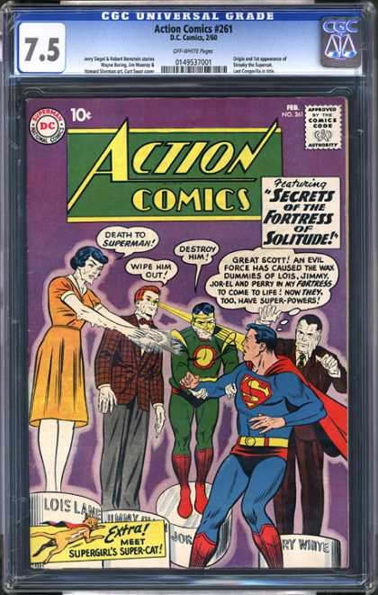 CGC Graded Comics - Action Comics #261 (CGC) - Superman - Lois - Jor-el - Fortress Of Solitude - Super-powers