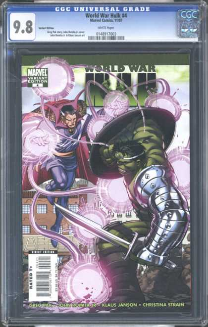 CGC Graded Comics - World War Hulk #4 (CGC) - Dr Strange - Occult - Sword And Shield - Revenge - Rage