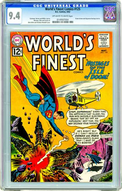 CGC Graded Comics - World's Finest Comics #125 (CGC) - Dc - 12c - May No 729 - Hostages Of The Isle Of Doom