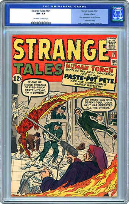 CGC Graded Comics - Strange Tales #104 (CGC) - Flames - Super Weapon - Fire-proof Paste - Paste-pot Pete - Human Torch