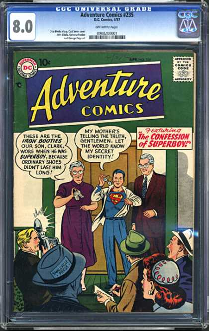 CGC Graded Comics - Adventure Comics #235 (CGC)