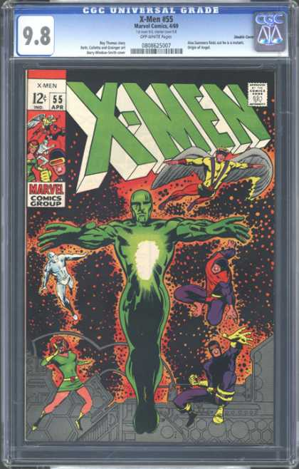 CGC Graded Comics - X-Men #55 (CGC) - Flying Man - Green Fighter - Team Fight - Green Man - Inside Power