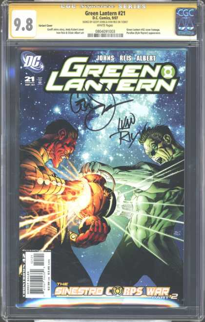 CGC Graded Comics - Green Lantern #21 (CGC) - Graded - Autographed - Cgc Hologram - Space - Lantern