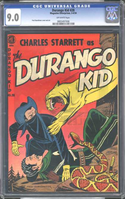 CGC Graded Comics - Durango Kid #28 (CGC) - Snake - Charles Starret - Durango Kid 28 - Plastic Casing - Canyon