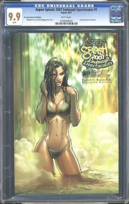 CGC Graded Comics - Aspen Splash: 2007 Swimsuit Spectacular #1 (CGC) - Aspen Splash 2007 - Swimsuit Spectacular - Exclusive Edition - Fantastic Realm - Uk Exclusive Edition