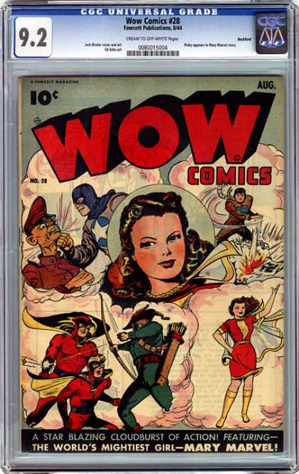 CGC Graded Comics - Wow Comics #28 (CGC) - Cgc Graded - Fawcett Publications - Classic - Mary Marvel - Super Heroes