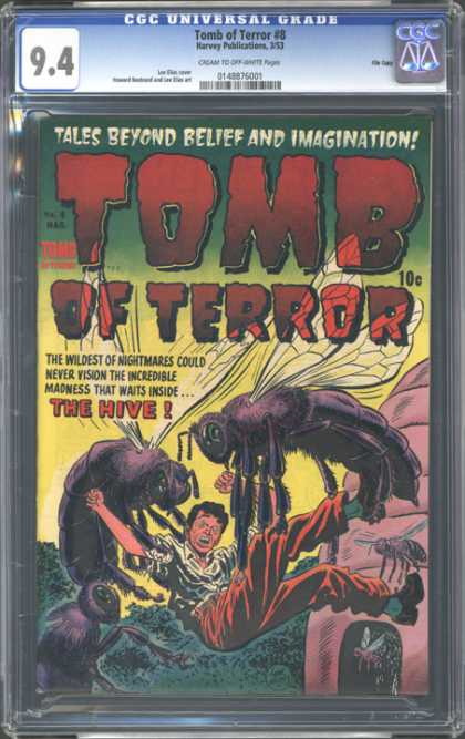 CGC Graded Comics - Tomb of Terror #8 (CGC) - Flies - Tales Beyond Belief And Imagination - The Hive - Man Carried Away - Wildest Of Nightmares