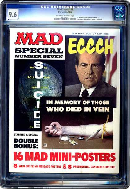 CGC Graded Comics - Mad Special #7 (CGC) - Ecch - Suicide - 16 Mad Mini-posters - In Memory Of Those Who Died In Vein - 8 Wild Shocking Message Posters