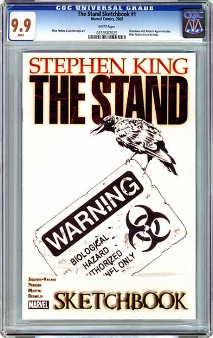 CGC Graded Comics - The Stand Sketchbook #1 (CGC) - The Stand - Bird - Warning - Sketchbook - Stephen King