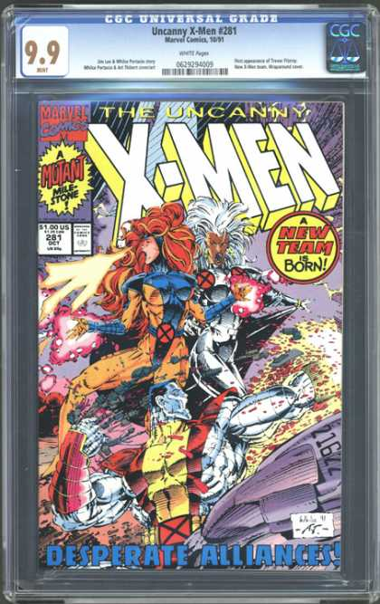CGC Graded Comics - Uncanny X-Men #281 (CGC)